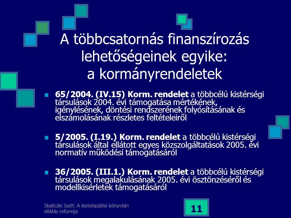 A többcsatornás finanszírozás lehetőségeinek egyike: a kormányrendeletek