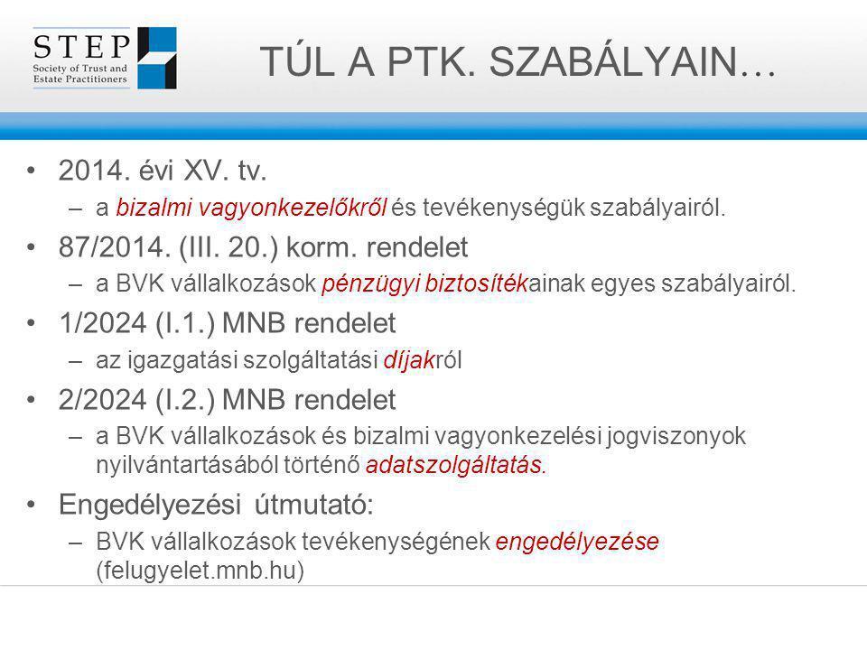 TÚL A PTK. SZABÁLYAIN… 2014. évi XV. tv.