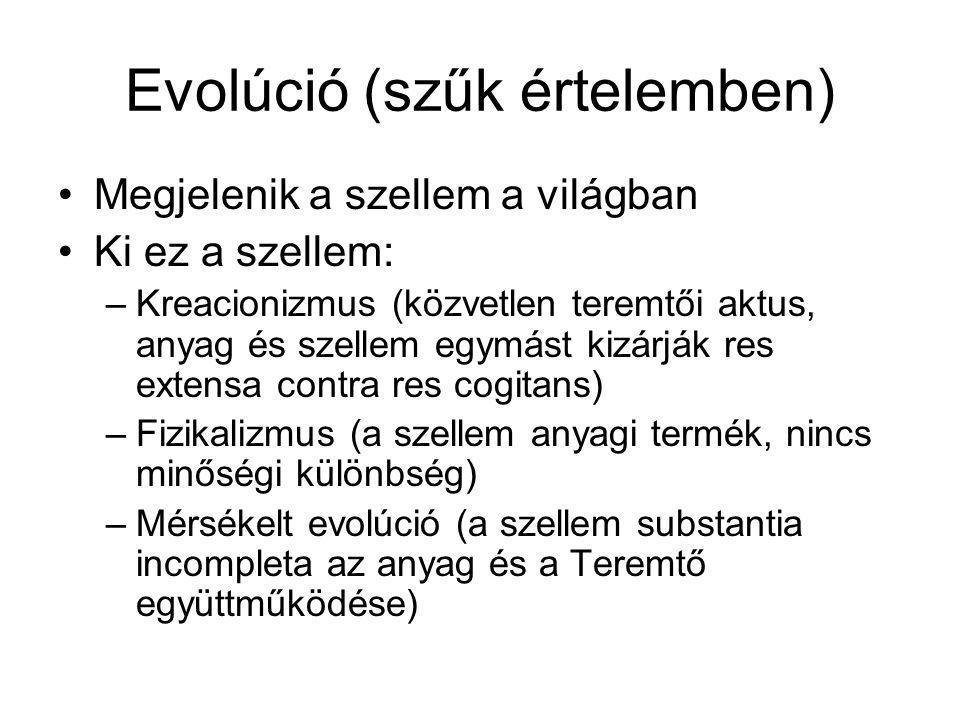 Evolúció (szűk értelemben)