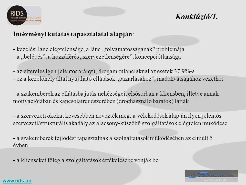 Konklúzió/1. Intézményi kutatás tapasztalatai alapján: