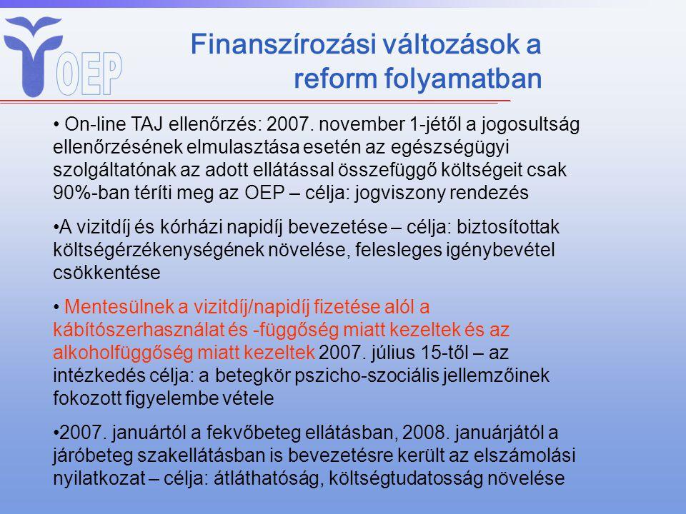 Finanszírozási változások a reform folyamatban