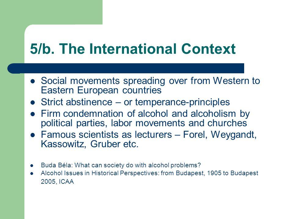5/b. The International Context