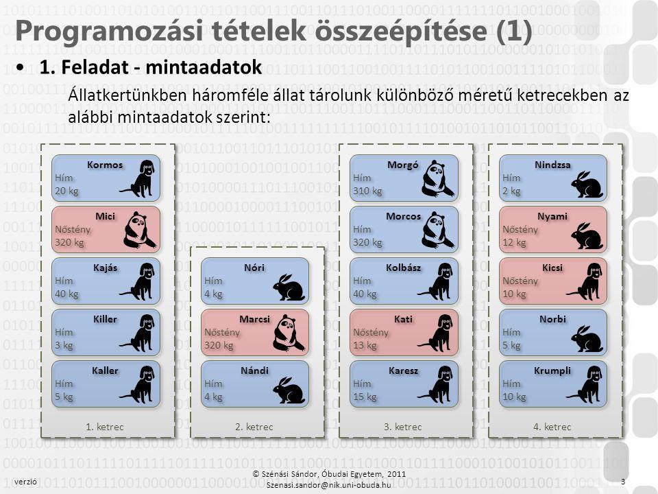 Programozási tételek összeépítése (1)