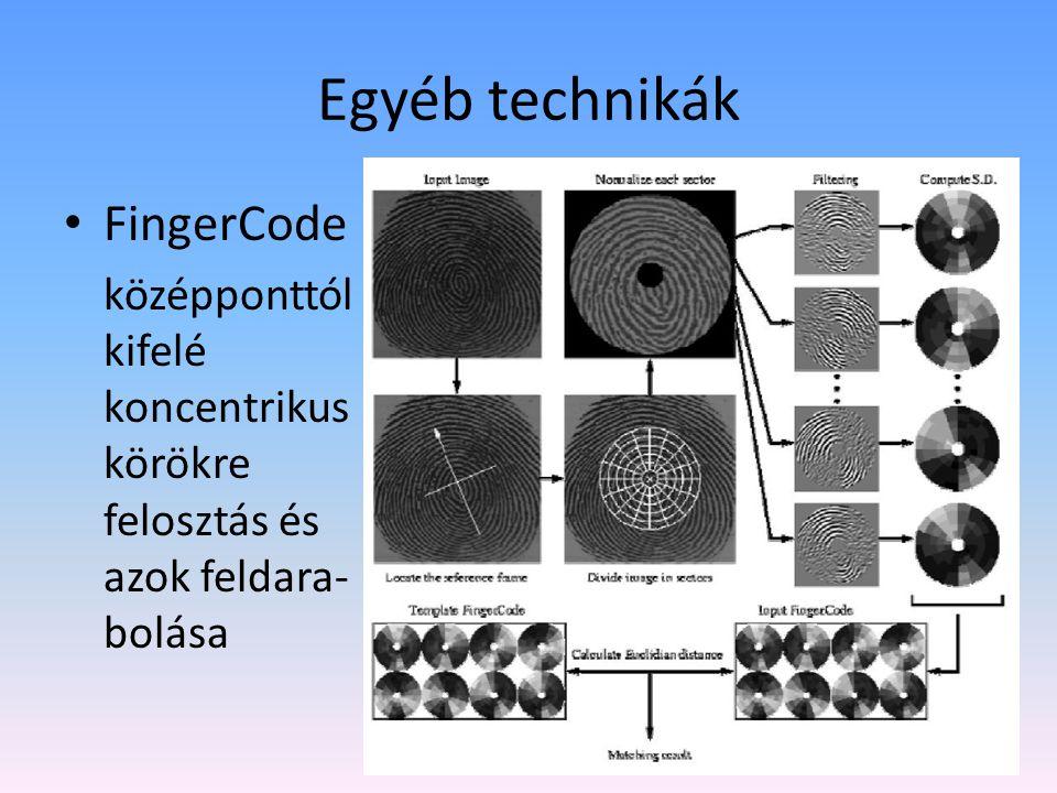 Egyéb technikák FingerCode