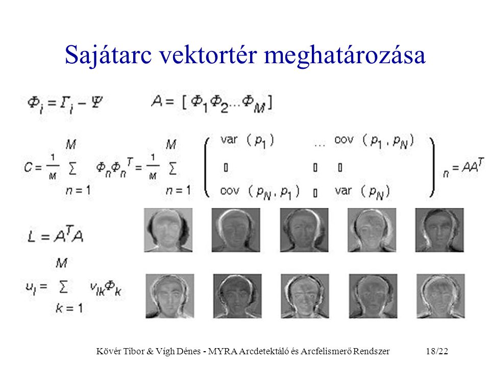 Sajátarc vektortér meghatározása