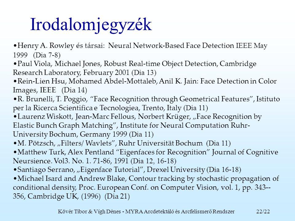 Kövér Tibor & Vígh Dénes - MYRA Arcdetektáló és Arcfelismerő Rendszer
