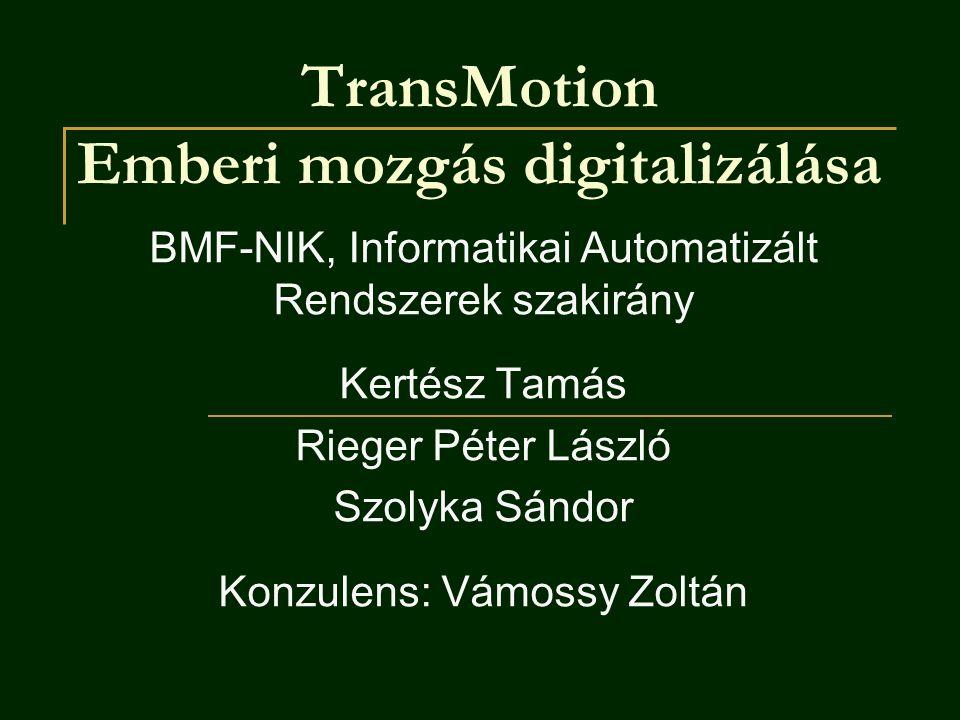 TransMotion Emberi mozgás digitalizálása