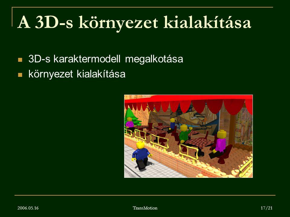 A 3D-s környezet kialakítása