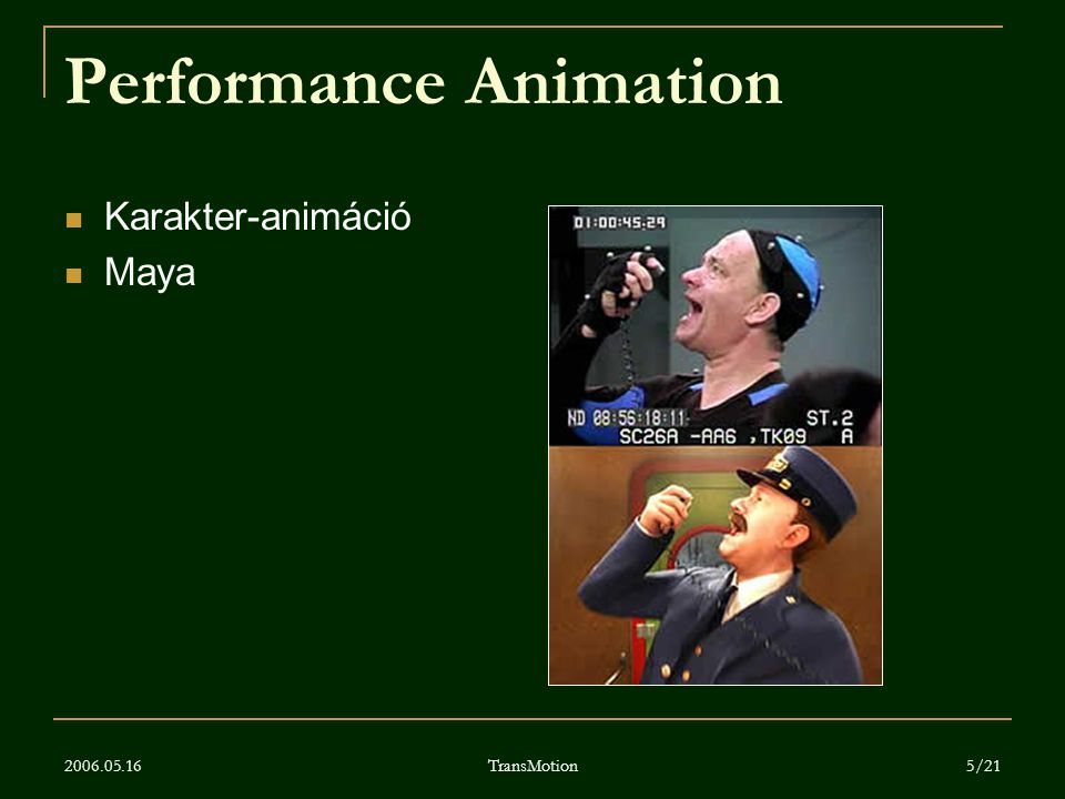 Performance Animation