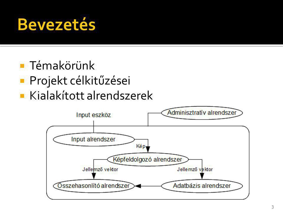Bevezetés Témakörünk Projekt célkitűzései Kialakított alrendszerek