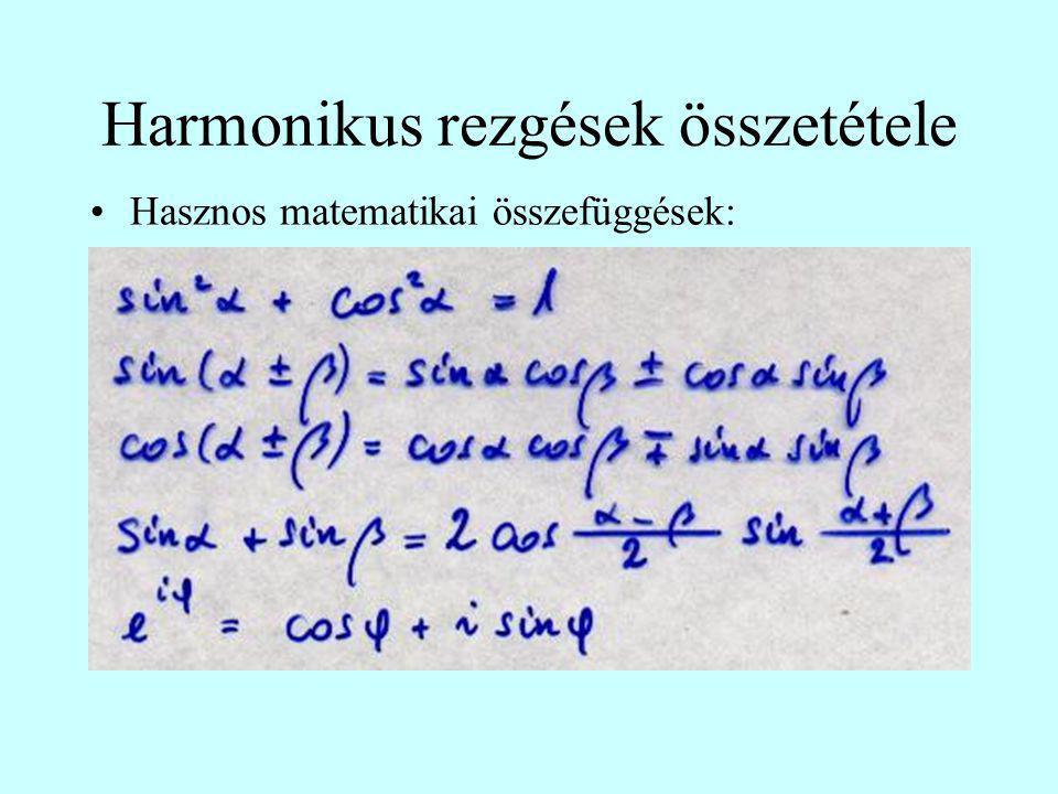 Harmonikus rezgések összetétele