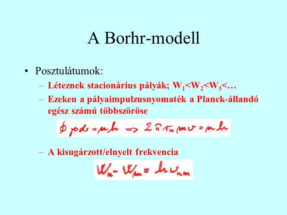 A Borhr-modell Posztulátumok: