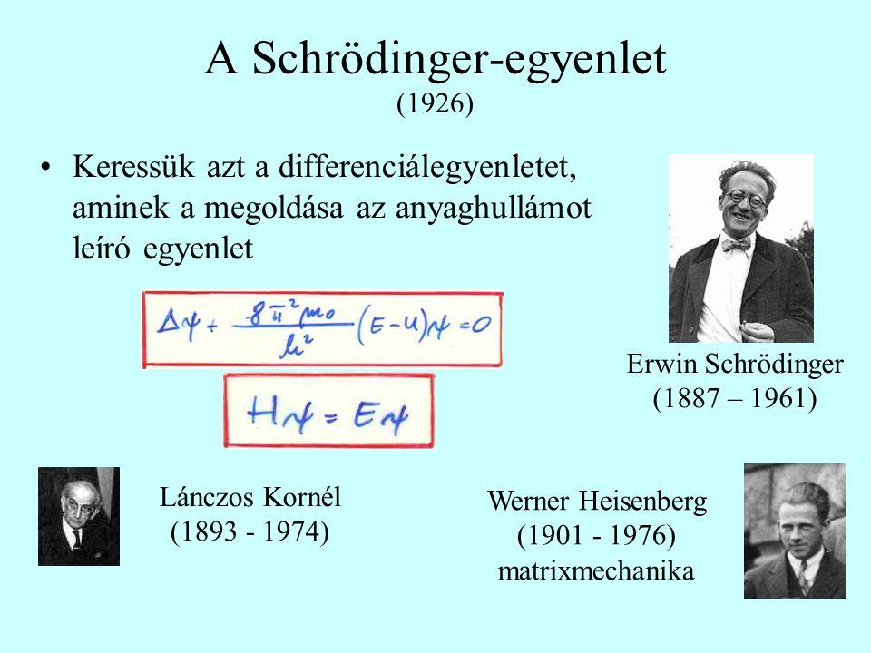 A Schrödinger-egyenlet (1926)