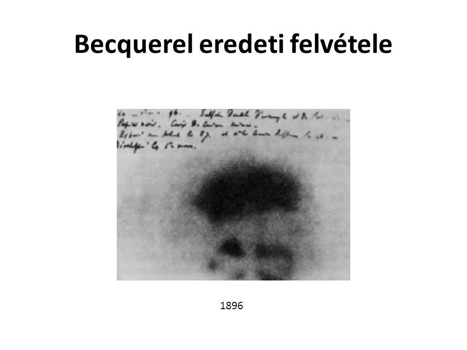 Becquerel eredeti felvétele