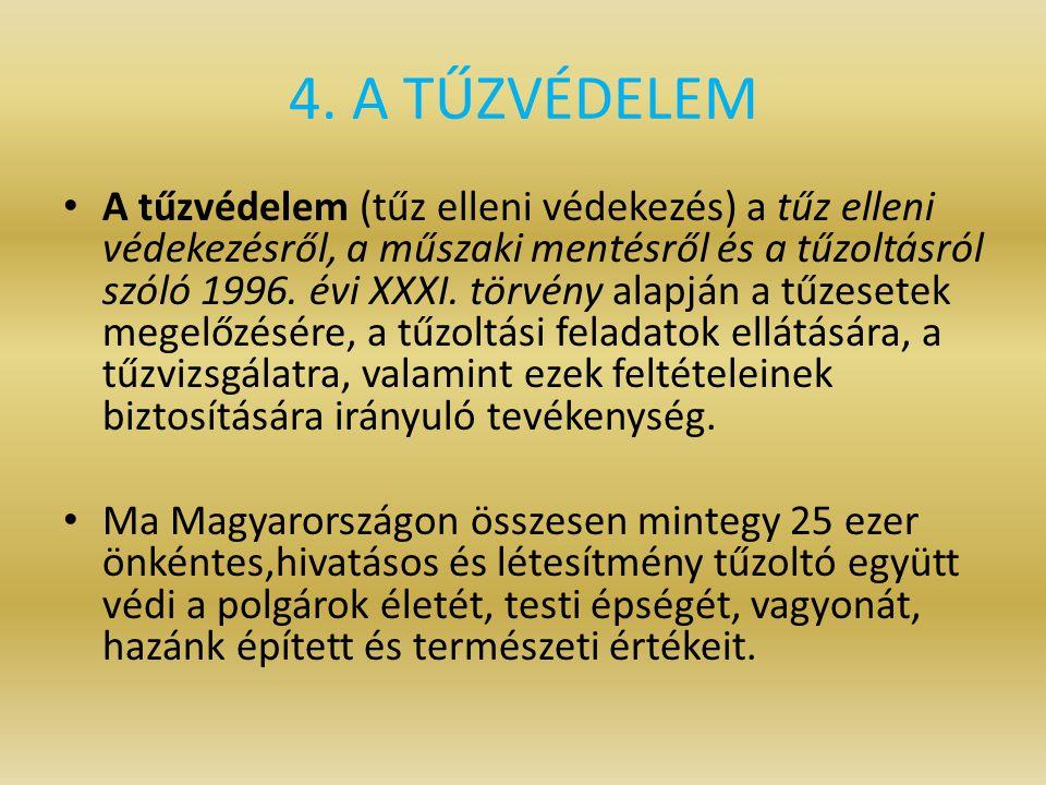 4. A TŰZVÉDELEM