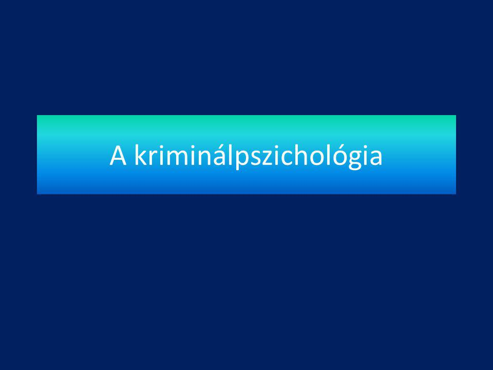 A kriminálpszichológia