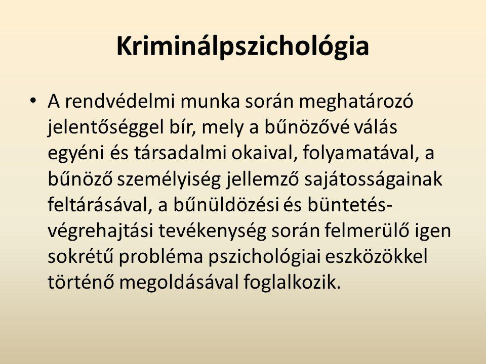 Kriminálpszichológia