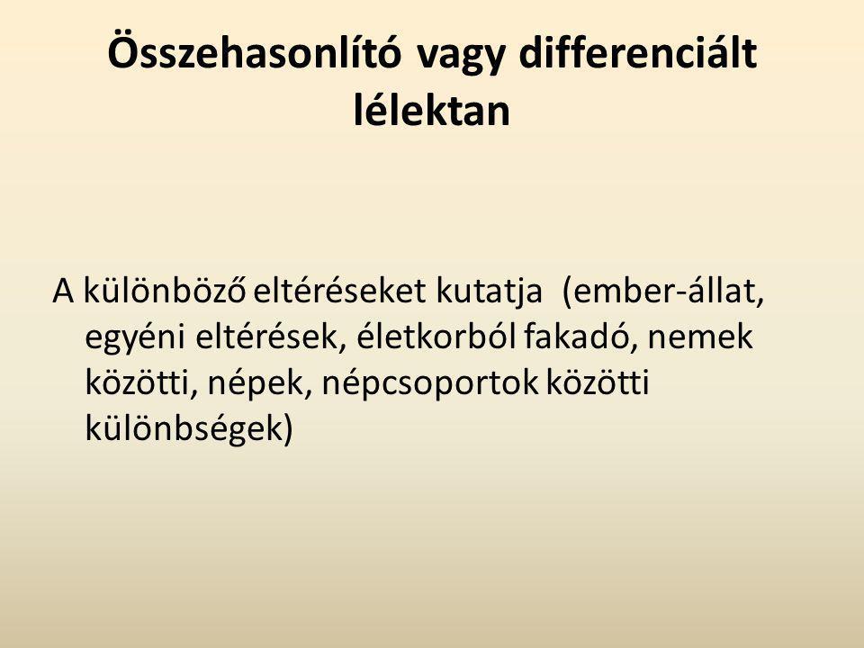 Összehasonlító vagy differenciált lélektan