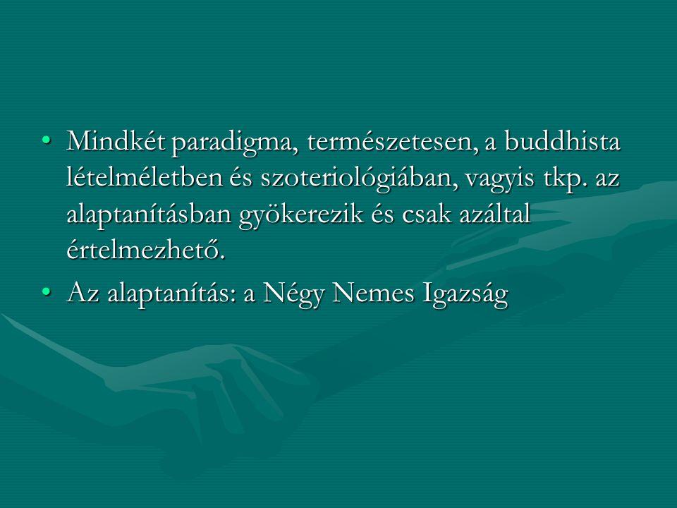 Mindkét paradigma, természetesen, a buddhista lételméletben és szoteriológiában, vagyis tkp. az alaptanításban gyökerezik és csak azáltal értelmezhető.