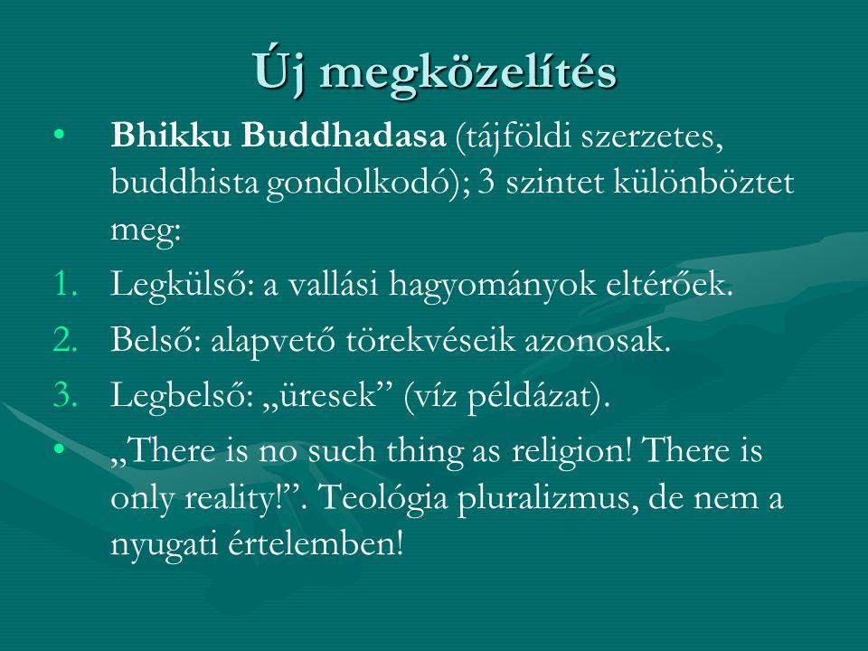 Új megközelítés Bhikku Buddhadasa (tájföldi szerzetes, buddhista gondolkodó); 3 szintet különböztet meg: