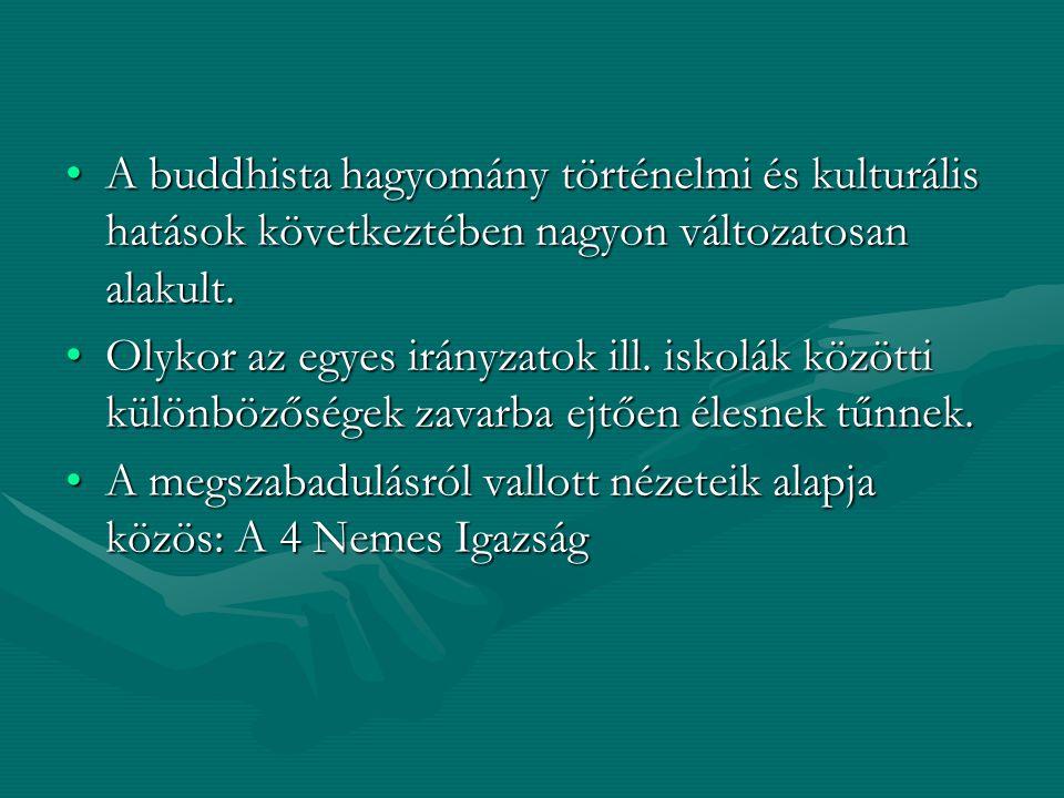 A buddhista hagyomány történelmi és kulturális hatások következtében nagyon változatosan alakult.