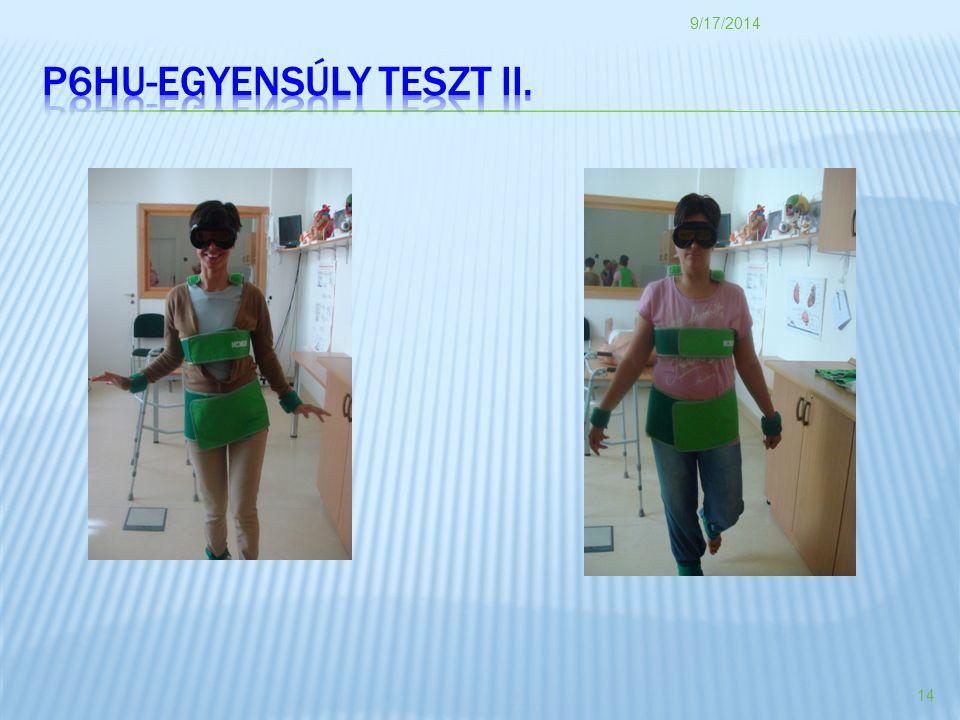 P6HU-EGYENSÚLY TESZT II.