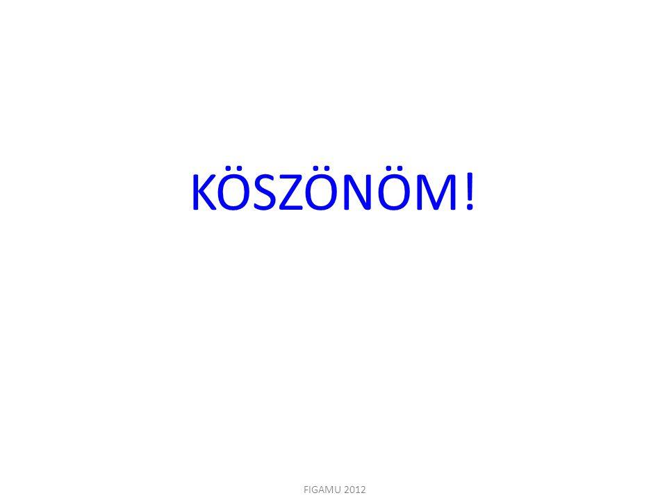 KÖSZÖNÖM! Koszonom a figyelmet. FIGAMU 2012
