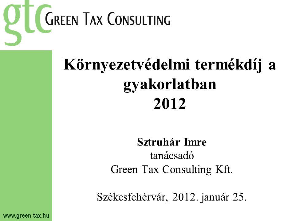 Környezetvédelmi termékdíj a gyakorlatban 2012