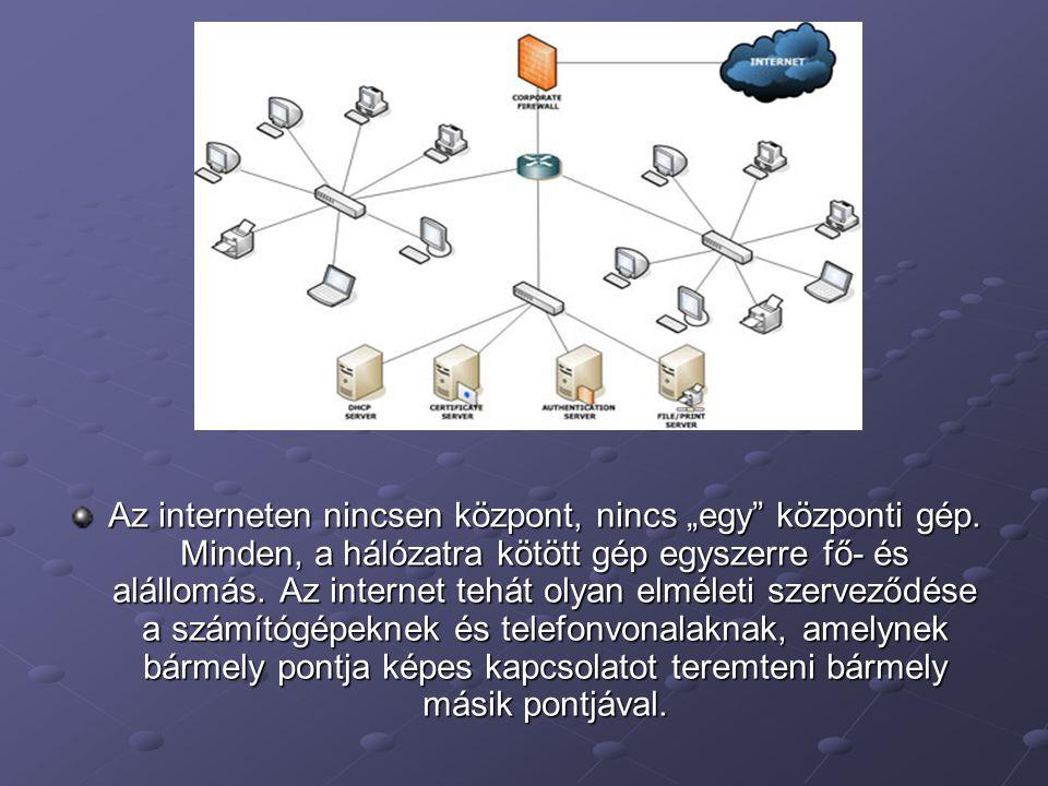 """Az interneten nincsen központ, nincs """"egy központi gép"""