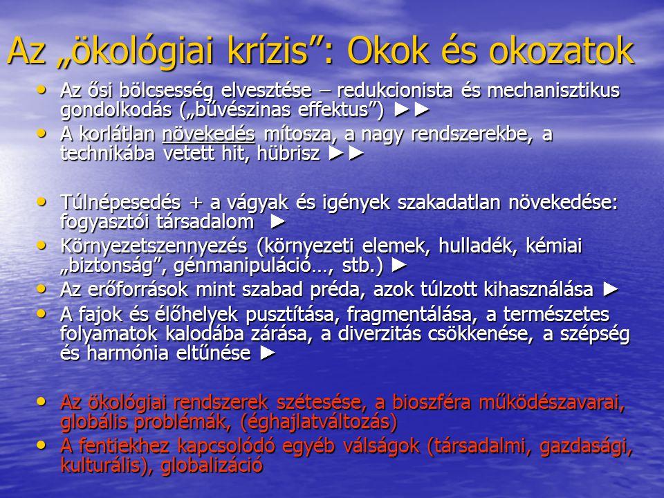 """Az """"ökológiai krízis : Okok és okozatok"""