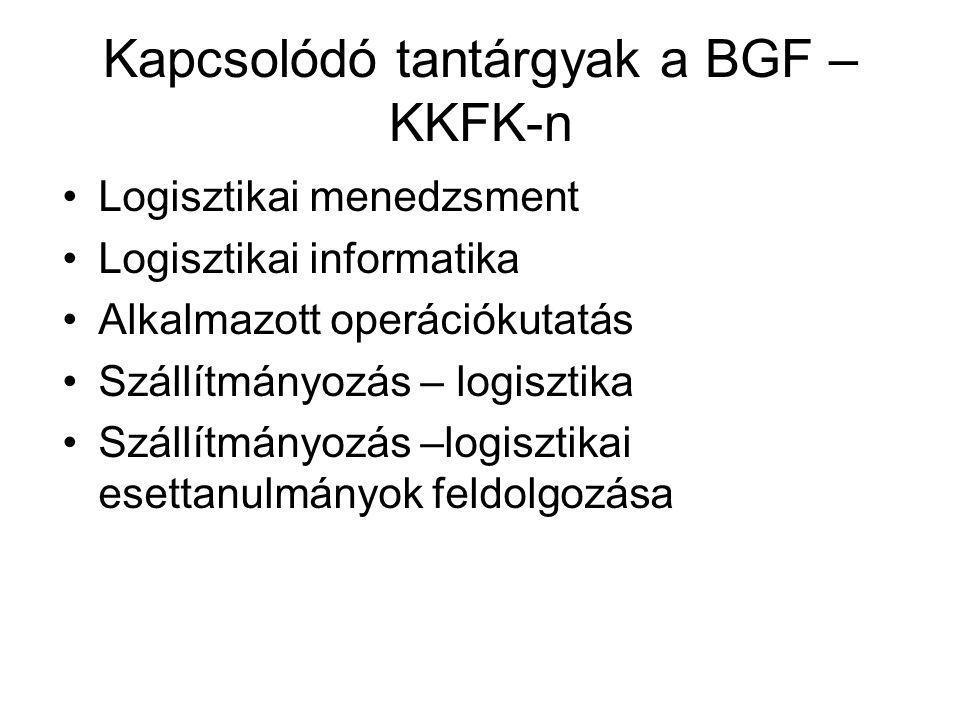 Kapcsolódó tantárgyak a BGF –KKFK-n