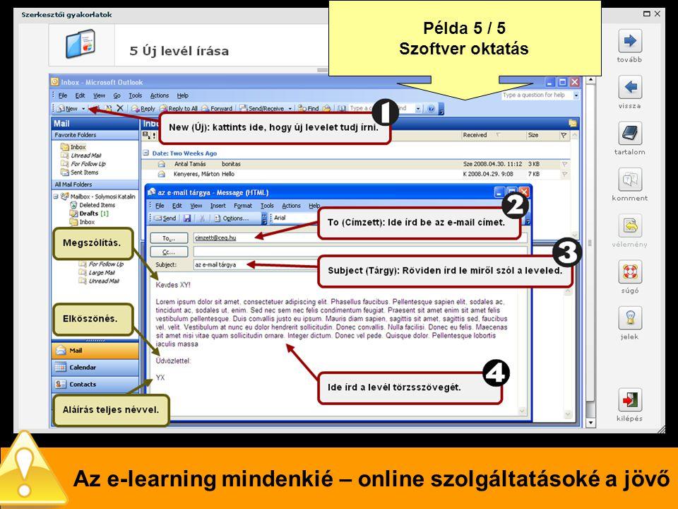 Az e-learning mindenkié – online szolgáltatásoké a jövő