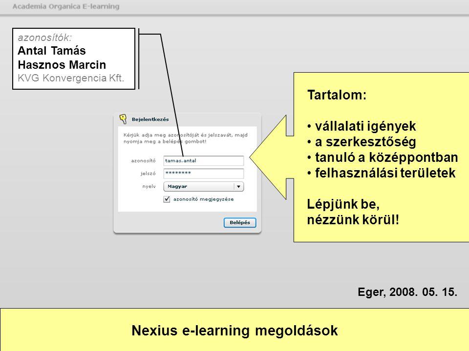 Nexius e-learning megoldások