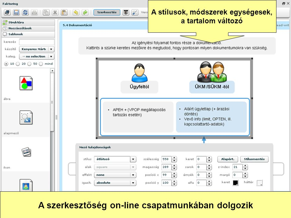 A szerkesztőség on-line csapatmunkában dolgozik