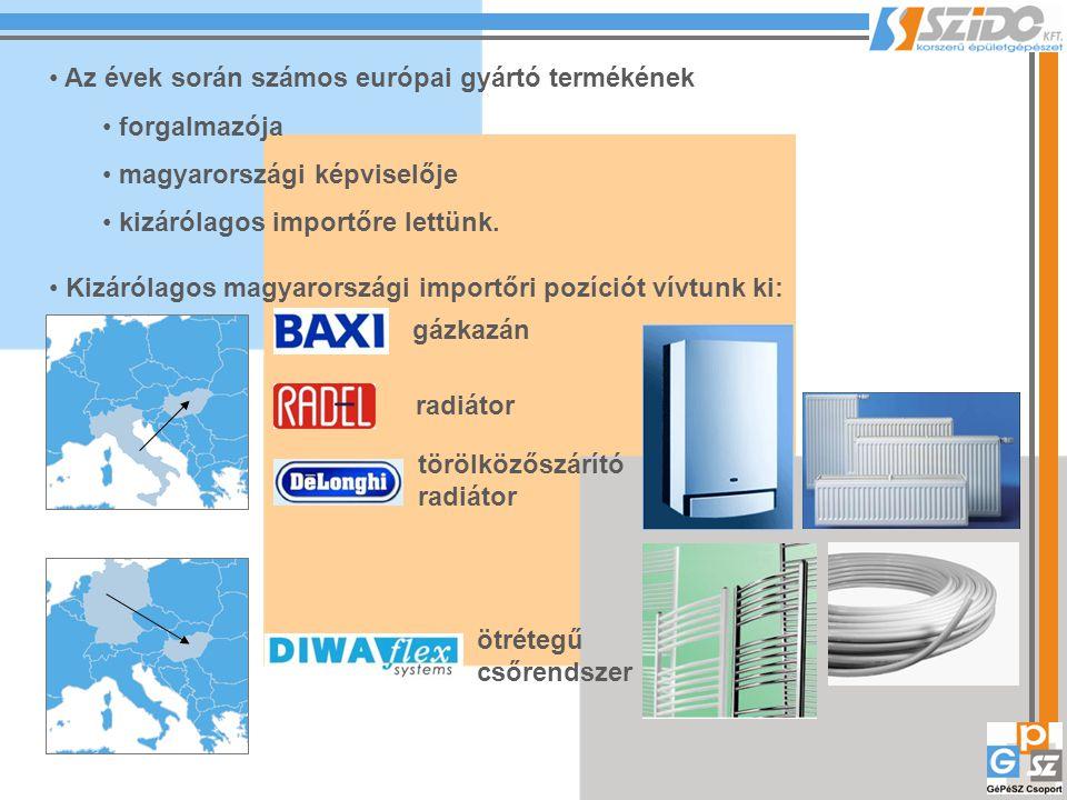Az évek során számos európai gyártó termékének