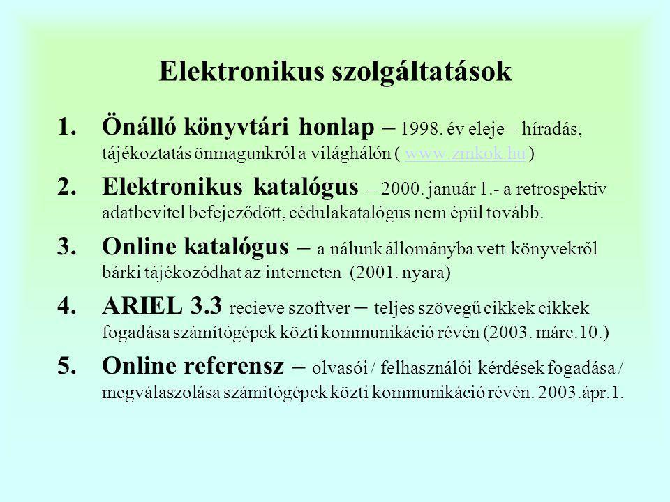 Elektronikus szolgáltatások