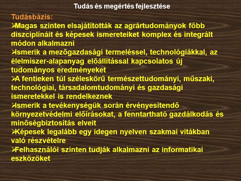 Képesek legalább egy idegen nyelven szakmai vitákban való részvételre