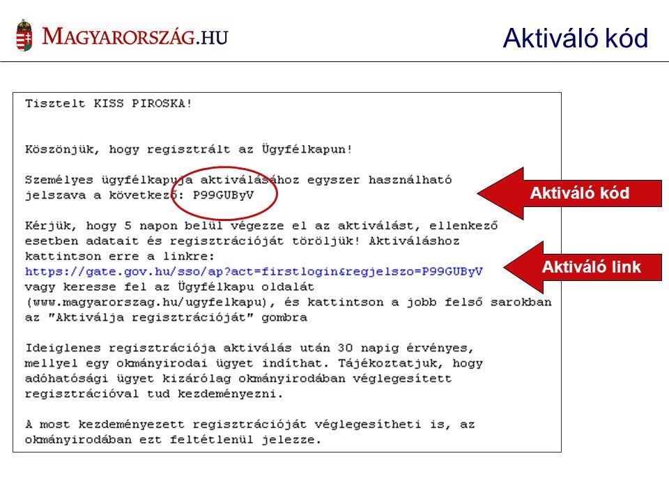 Aktiváló kód Aktiváló kód Aktiváló link