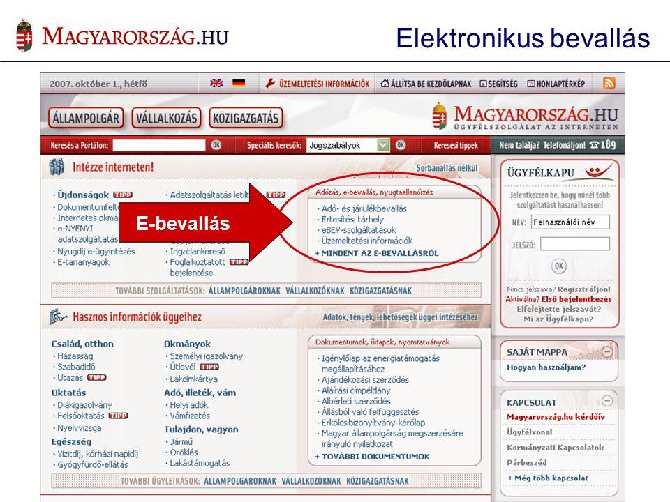 Elektronikus bevallás