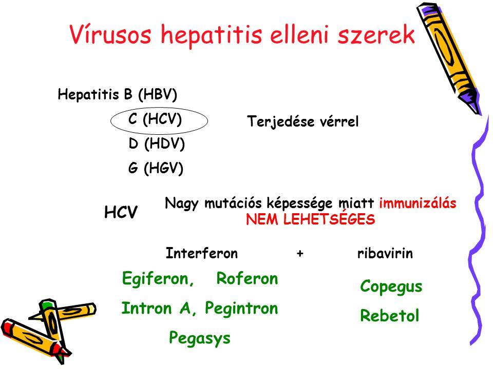 Vírusos hepatitis elleni szerek