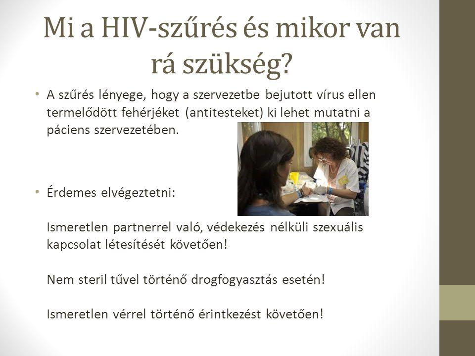 Mi a HIV-szűrés és mikor van rá szükség