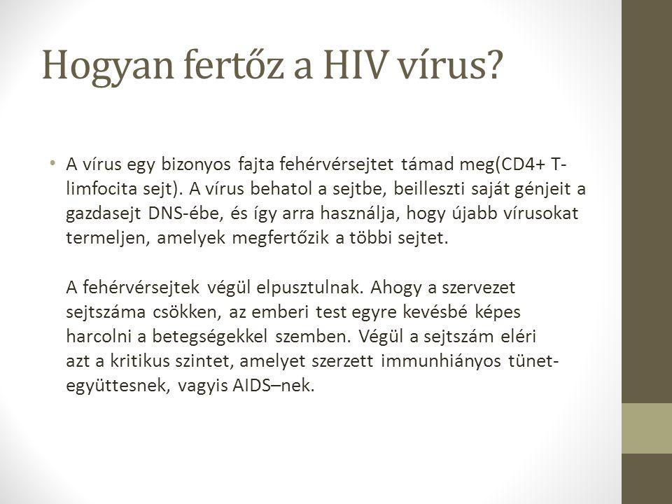 Hogyan fertőz a HIV vírus