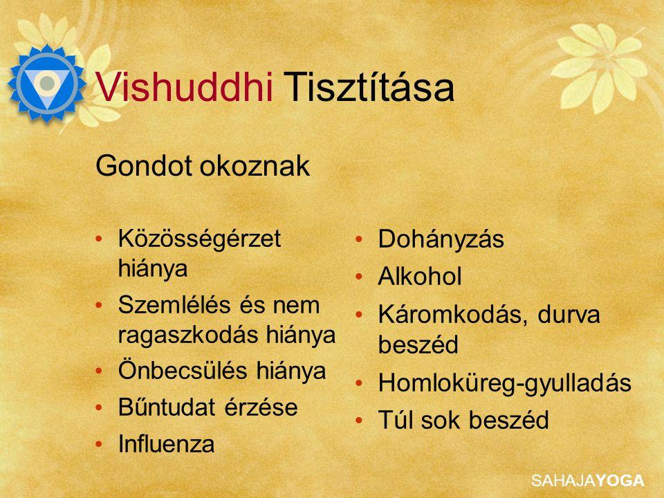 Vishuddhi Tisztítása Gondot okoznak Dohányzás Alkohol