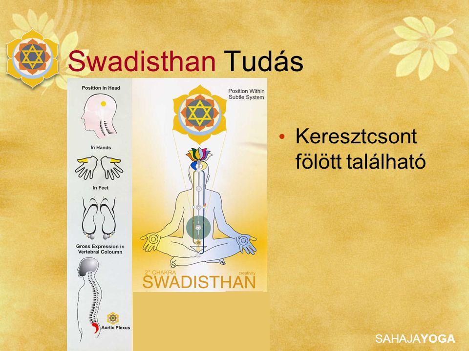 Swadisthan Tudás Keresztcsont fölött található