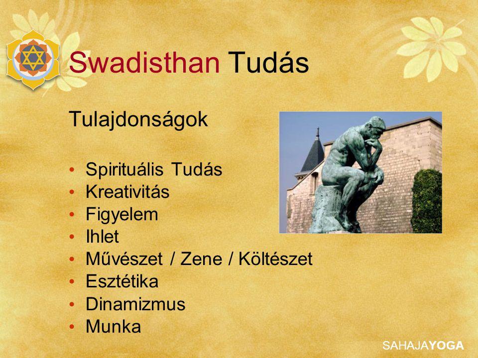 Swadisthan Tudás Tulajdonságok Spirituális Tudás Kreativitás Figyelem