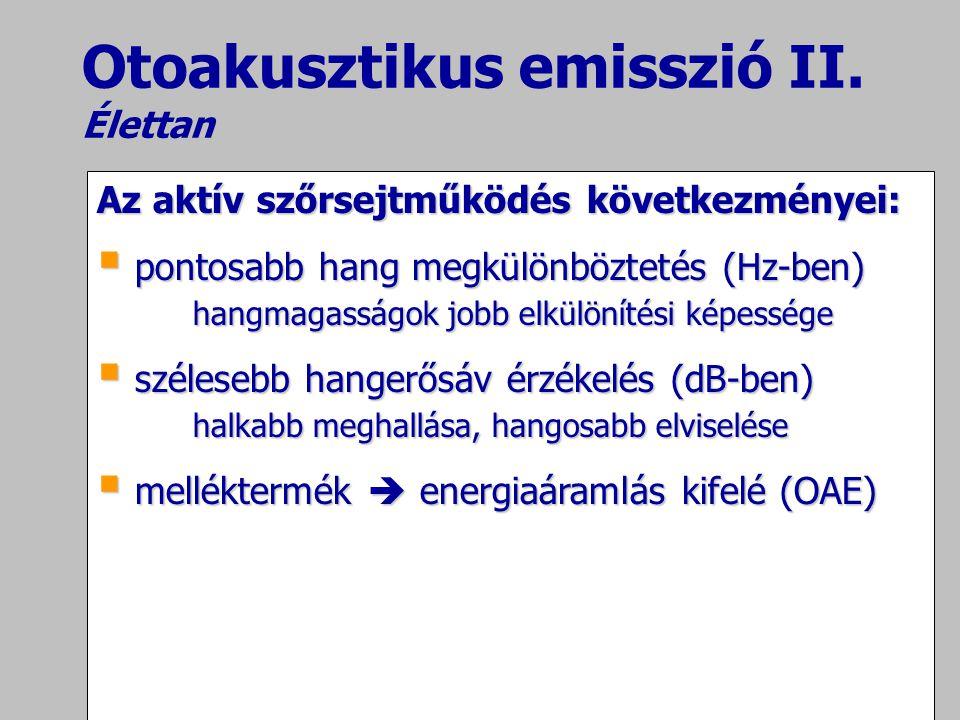 Otoakusztikus emisszió II. Élettan