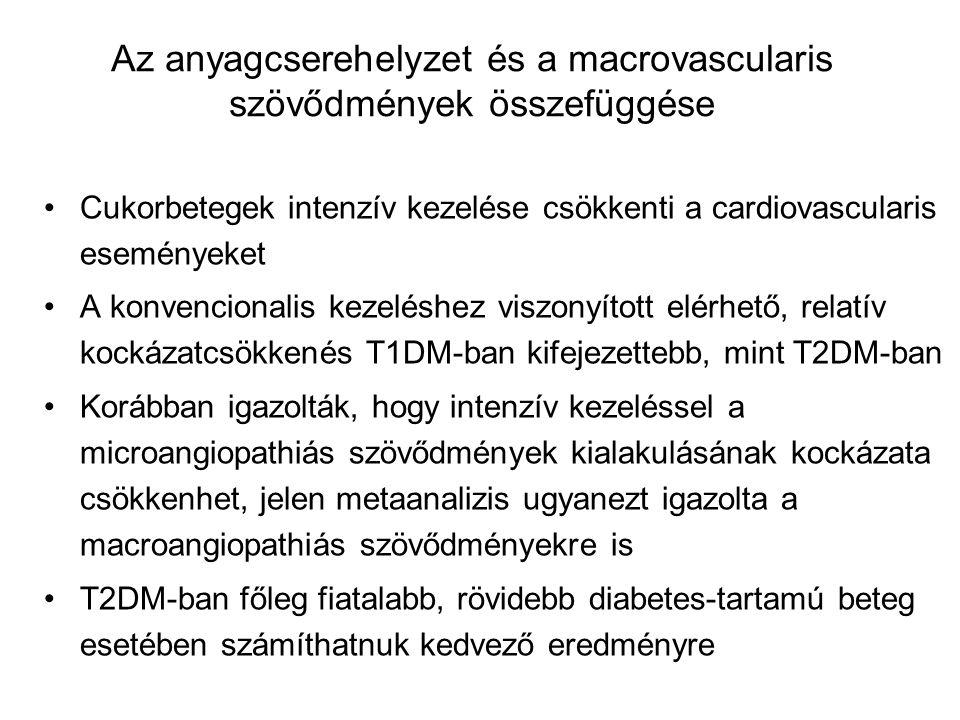 Az anyagcserehelyzet és a macrovascularis szövődmények összefüggése