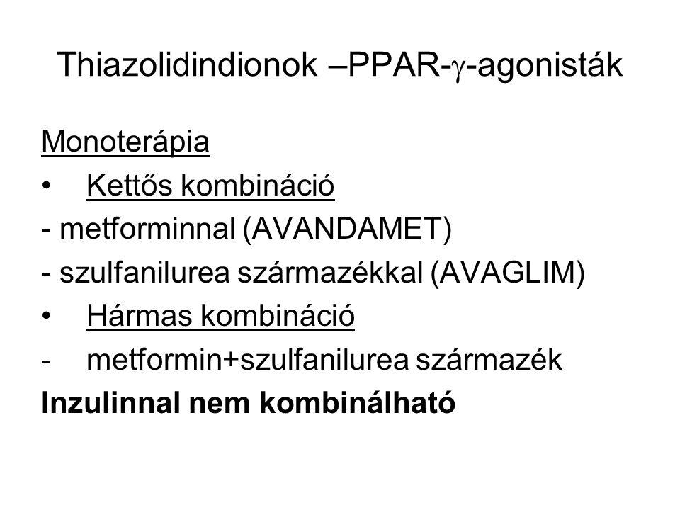 Thiazolidindionok –PPAR--agonisták