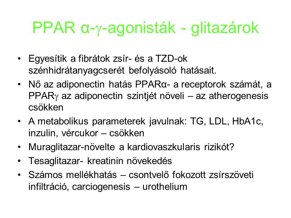 PPAR α--agonisták - glitazárok