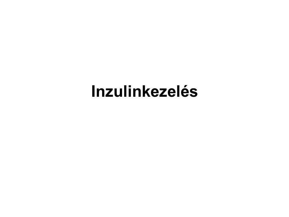 Inzulinkezelés